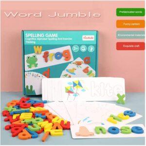 головоломка деревянные буквы